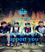 KEEP CALM AND Comate Always support you - Personalised Poster A4 size