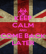 KEEP CALM AND COME BACK LATER - Personalised Poster A4 size
