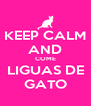 KEEP CALM AND COME LIGUAS DE GATO - Personalised Poster A4 size