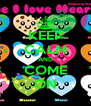 KEEP CALM AND COME ON - Personalised Poster A4 size