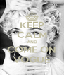 KEEP CALM AND COME ON VOGUE - Personalised Poster A4 size