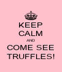 KEEP CALM AND COME SEE TRUFFLES! - Personalised Poster A4 size
