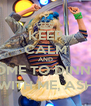 KEEP CALM AND COME TO DINNER WITH ME, ASH - Personalised Poster A4 size