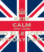 KEEP CALM AND COME TO ELLE JOES  BIRTHDAY PARTY  - Personalised Poster A4 size