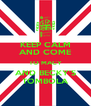 KEEP CALM AND COME TO MACY AND BECKY'S TOMBOLA - Personalised Poster A4 size