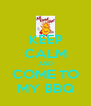 KEEP CALM AND COME TO MY BBQ - Personalised Poster A4 size