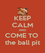 KEEP CALM AND COME TO  the ball pit - Personalised Poster A4 size
