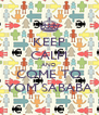 KEEP CALM AND COME TO YOM SABABA - Personalised Poster A4 size