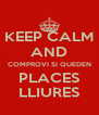 KEEP CALM AND COMPROVI SI QUEDEN PLACES LLIURES - Personalised Poster A4 size