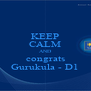 KEEP CALM AND congrats Gurukula - D1 - Personalised Poster A4 size