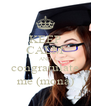 KEEP CALM AND congratulate me (mona) - Personalised Poster A4 size