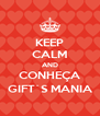 KEEP CALM AND CONHEÇA GIFT´S MANIA - Personalised Poster A4 size