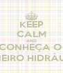 KEEP CALM AND CONHEÇA O  CARNEIRO HIDRÁULICO - Personalised Poster A4 size