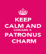 KEEP CALM AND CONJURE A PATRONUS  CHARM - Personalised Poster A4 size