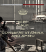 KEEP CALM AND CONSERVE STAMINA AND AMMO - Personalised Poster A4 size