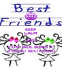 KEEP CALM AND CONTINUE BEING A A GREAT BESTFRIEND - Personalised Poster A4 size