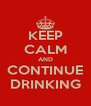 KEEP CALM AND CONTINUE DRINKING - Personalised Poster A4 size