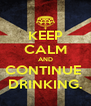 KEEP CALM AND CONTINUE  DRINKING. - Personalised Poster A4 size