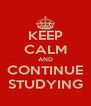 KEEP CALM AND CONTINUE STUDYING - Personalised Poster A4 size