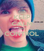 KEEP CALM AND CONTROL  - Personalised Poster A4 size