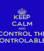 KEEP CALM AND CONTROL THE CONTROLABLES - Personalised Poster A4 size