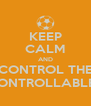 KEEP CALM AND CONTROL THE CONTROLLABLES - Personalised Poster A4 size