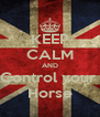 KEEP CALM AND Control your  Horse - Personalised Poster A4 size