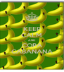 KEEP CALM AND COPA CABANANA - Personalised Poster A4 size