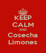 KEEP CALM AND Cosecha Limones - Personalised Poster A4 size