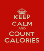 KEEP CALM AND COUNT CALORIES - Personalised Poster A4 size