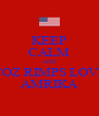 KEEP CALM AND COZ RIMPS LOVE AMRIKA - Personalised Poster A4 size