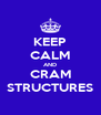 KEEP CALM AND CRAM STRUCTURES - Personalised Poster A4 size