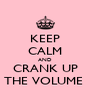 KEEP CALM AND CRANK UP THE VOLUME  - Personalised Poster A4 size