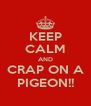 KEEP CALM AND CRAP ON A PIGEON!! - Personalised Poster A4 size