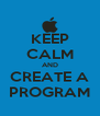 KEEP CALM AND CREATE A PROGRAM - Personalised Poster A4 size