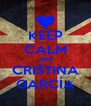KEEP CALM AND CRISTINA GARCÍA - Personalised Poster A4 size