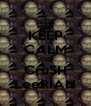 KEEP CALM AND CruSH LeeRIAN - Personalised Poster A4 size