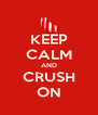 KEEP CALM AND CRUSH ON - Personalised Poster A4 size
