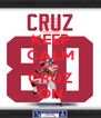 KEEP CALM AND CRUZ ON - Personalised Poster A4 size