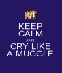 KEEP CALM AND CRY LIKE A MUGGLE - Personalised Poster A4 size