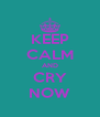 KEEP CALM AND CRY NOW - Personalised Poster A4 size