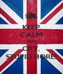 KEEP CALM AND CRY, STUPID HORE! - Personalised Poster A4 size
