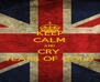 KEEP CALM AND CRY  TEARS OF GOLD - Personalised Poster A4 size