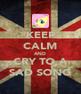KEEP CALM AND CRY TO A SAD SONG - Personalised Poster A4 size
