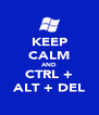 KEEP CALM AND CTRL + ALT + DEL - Personalised Poster A4 size