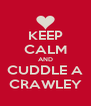 KEEP CALM AND CUDDLE A CRAWLEY - Personalised Poster A4 size