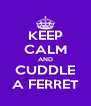 KEEP CALM AND CUDDLE A FERRET - Personalised Poster A4 size