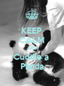 KEEP CALM AND Cuddle a  Panda - Personalised Poster A4 size