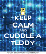 KEEP CALM AND CUDDLE A TEDDY - Personalised Poster A4 size