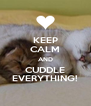 KEEP CALM AND CUDDLE EVERYTHING! - Personalised Poster A4 size